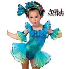 A Wish Come True Dance 2013: Under The Sea Childs Character Dance Costume