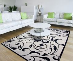 If you're artistic use your imagination to give your floor a unique rug! Painted Floor Cloths, Painted Rug, Painted Floors, Painted Furniture, Painted Canvas, Painting Carpet, Diy Flooring, Floor Patterns, Floor Decor