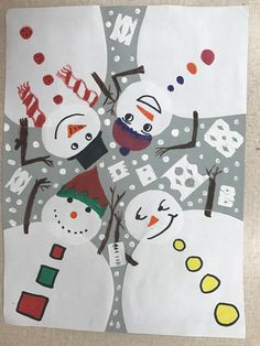 On those wonky schedule days, I like to switch it up and do art with writing. The kids seem to enjoy this one, where we created snowman in different perspectives. This was an introduction to our point of view unit.