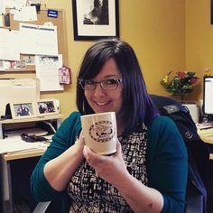 Community Engagement Coordinator Lisa's favourite #souvenirMW is her John Robinson mug, with John's cobbler business card imprinted on it. It also holds a LOT of coffee! #museumweek
