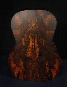 Acoustic Guitar in progress made of Ziricote wood. By Elly Guitar Co. Bass Guitar Lessons, Guitar Tips, Guitar Painting, Guitar Art, Unique Guitars, Custom Guitars, Easy Guitar, Cool Guitar, Classical Acoustic Guitar