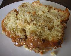Caramel apple loaf cake