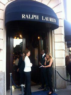 Last minute guest list check at Ralph Lauren