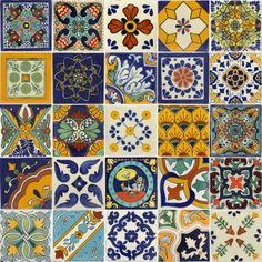Mixed Talavera Tile Set - x6053