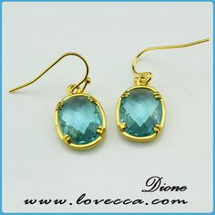 New arrival mix color faceted glass dangle earring, View glass dangle earring, Dione Product Details from Guangzhou Dione Crafts Co., Ltd. on Alibaba.com