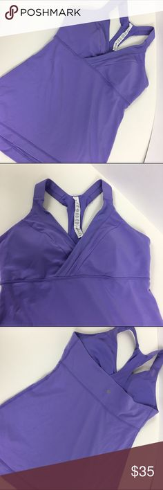 Lululemon Deep Breath Tank sz 10 Beautiful grapseed (I think!) Deep Breath Tank Top from Lululemon in size 10.  This top is super flattering and comfortable, and in good condition. Rip tag still attached and pads included. No trades no PayPal lululemon athletica Tops Tank Tops