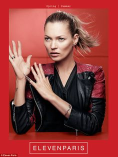 Kate Moss has been announced as the new face of ELEVENPARIS' SS14 collection.
