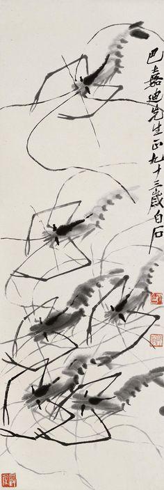 Shrimps - Qi Baishi