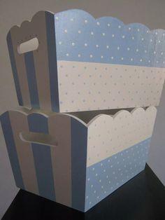 caja -cajas-set portaajuar y pañalera fibrofacil pintada