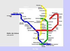 Metro Lisboa Route Map LISBON Pinterest Portugal - Portugal map metro