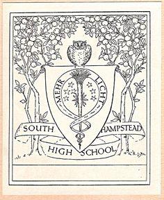 Bookplate of South Hampstead High School. Ca. 1949