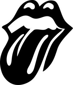 the rolling stones logo blanco y negro Silhouette Portrait, Silhouette Cameo Projects, Silhouette Design, Silhouette Vinyl, Inkscape Tutorials, Big Lips, Stencil Art, Lip Stencil, Stencil Graffiti
