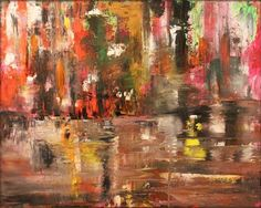 palette knife, oil on canvas painting