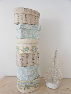 Sweet little decoupaged boxes