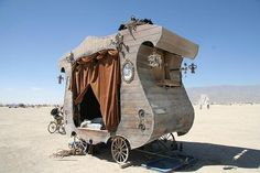 @Hussam Shams Shams El-Sherif: The Apocalypse Stage Coach, the worlds only bicycle powered stagecoach puppet theater