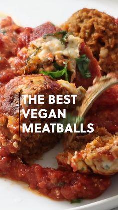 Tasty Vegetarian Recipes, Vegetarian Dinners, Vegan Dinner Recipes, Veggie Recipes, Whole Food Recipes, Cooking Recipes, Healthy Recipes, Vegetarian Meatballs, Vegan Crockpot Recipes