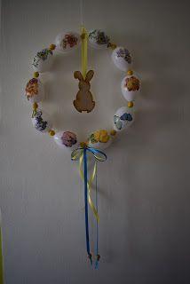 Süti és más...: Húsvéti ajtódísz DIY Diy, Bricolage, Do It Yourself, Homemade, Diys, Crafting