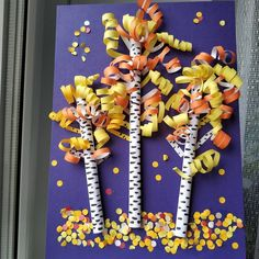 Fall Paper Crafts, Autumn Crafts, Fall Crafts For Kids, Toddler Crafts, Fun Crafts, Art For Kids, Arts And Crafts, Elementary Art Rooms, Art Lessons Elementary