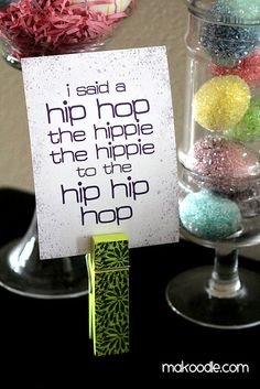 I Said a Hip Hop the Hippie the Hippie to the Hip Hip Hop - Free Easter Printable (Sugarhill Gang) Hip Hip, 80s Birthday Parties, 2nd Birthday, Birthday Ideas, Hip Hop Party, 90s Theme, Festa Party, Sofia Party, Hoppy Easter