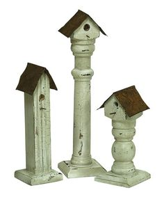 Take a look at this Birdhouse Stand Set by Melrose on #zulily today!