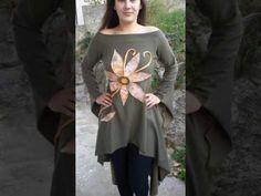 Oliva asimetrik dress / maslinasto zelena cvijetna rapsodija - YouTube Ruffle Blouse, Tunic Tops, Youtube, Dresses, Women, Fashion, Vestidos, Moda, Fashion Styles