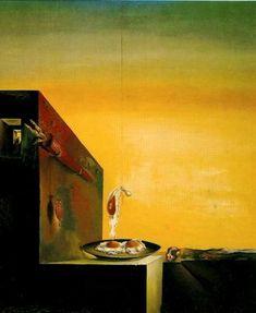 Huevos al Plato sin el Plato - Salvador Dalí - 1932. Óleo sobre lienzo. 60,4 x 42 cm. Colección de Mr. y Mrs. A. Reynolds Morse. Museo Salvador Dalí. San Petersburgo. Florida. USA.