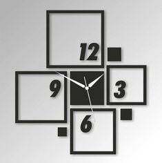30. Big Frames 3D Crystal Mirror Wall Clock
