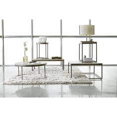 Alana Steel and Acacia Wood Top Square Coffee Table - #1P246 | Lamps Plus