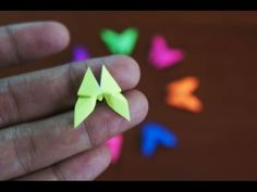 Mini Origami - How to make Mini Butterfly Origami (Reuploaded)