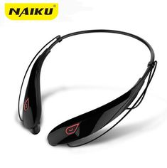NAIKU New Wireless Stereo Bluetooth Headset Music Headphone Sport Bluetooth Earphone Handsfree In Ear Earbuds Media Play-in Bluetooth Earphones & Headphones from Consumer Electronics Music Headphones, Sports Headphones, Bluetooth Headphones, Legging Sport, Alcatel One Touch, Wireless Headset, Noise Cancelling, Fashion Necklace, Oakley Sunglasses
