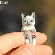 Кошка кольцо, полимерная глина