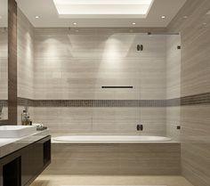 Aston Soleil 48 in. x 58 in. Completely Frameless Hinged Tub Door in Oil Rubbed Bronze at The Home Depot - Mobile Bathtub Doors, Frameless Shower Doors, Simple Bathroom, Modern Bathroom, Master Bathroom, Bathroom Sets, Peach Bathroom, Bathroom Storage, Bling Bathroom