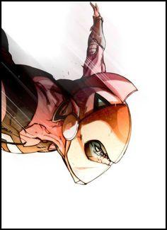 Grendizer - Daisuke Umon by Carmine Di Giandomenico * Punisher, Gundam, Domestic Robots, Heros Comics, Big Robots, Robot Cartoon, Japanese Cartoon, Japanese Robot, Mecha Anime