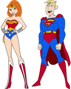 Kim and Ron as a Super Couple by darthraner83 on deviantART