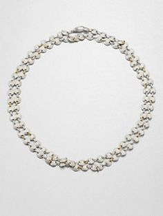 GURHAN - Orb 24K Yellow Gold & Sterling Silver Lentil Link Necklace