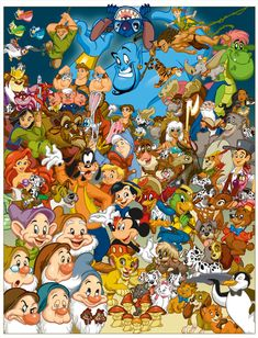 Ideas For Disney Art Collage Mickey Mouse Disney Pixar, Art Disney, Disney Mickey, Disney Wiki, All Disney Characters, Punk Disney, Disney Stuff, Cartoon Characters, Images Disney
