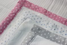 Baby spots range of polka dot trimmed cotton cellular blankets in white and pink / grey or blue from Tom & Bella Pink Grey, Blue, Little Ones, Baby Gifts, Blankets, Polka Dots, Range, Cotton