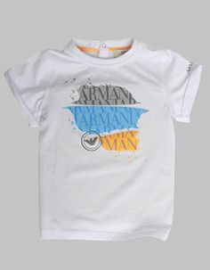 Armani Junior Paint Splatter T-shirt White | Accent Clothing