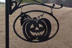 Jack-o-lantern - Decorative Hanging Landscape Sign   ALABAMA METAL ART