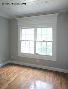 REFRESHERS:: WINDOWS: MOLDING ~~ door and window trim molding with a cross header @Sandra Pendle Pendle Pendle Powell {Sawdust Girl}