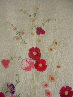 vintage needlework quilt... <3