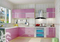 Iti plac aceste bucatarii roz? - http://ideidesigninterior.ro/iti-plac-aceste-bucatarii-roz/