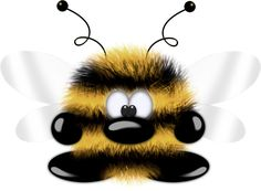 such cute lil bee Funny Monsters, Cartoon Monsters, Little Monsters, Creative Pictures, Cute Pictures, Teddy Pictures, Bee Rocks, Cute Bee, Cute Clipart