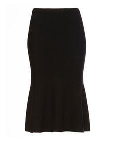 Black wool blend knee length skirt Sale - JAEGER Sale
