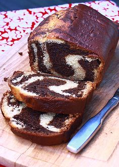 Tiramisu Bread - 1½ cups all-purpose flour 1 teaspoon baking powder ½ teaspoon baking soda ¼ teaspoon table salt 1 container (8 oz.) mascarpone cheese, softened ¾ cup sugar 2 eggs 1 teaspoon vanilla 1 tablespoon unsweetened cocoa powder 2 teaspoons instant espresso powder 1 tablespoon water ½ cup buttermilk