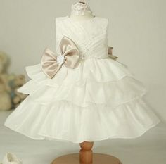 Infant Baby Toddlers Wedding Flower Girl Easter Holiday Party Princess Fancy Pageant TuTu Dress 15