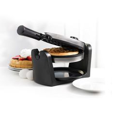 Better Living - 1000-Watt Waffle Maker in Silver and Black
