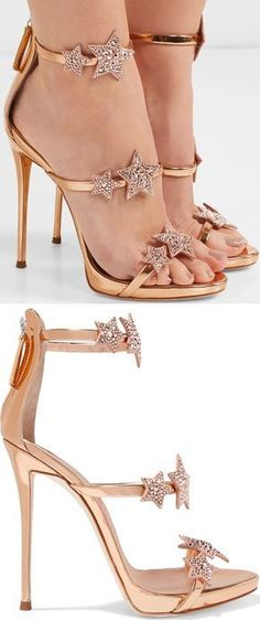 cd9c1e22eaf The slim straps on these rose gold  Coline  sandals are decorated with  crystal-