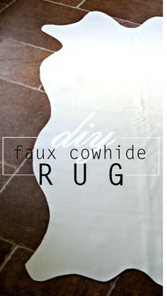 DIY Faux Cowhide Rug, Amy Krist - Delineate Your Dwelling