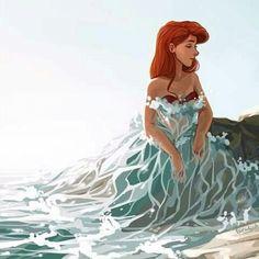 The Little Mermaid, Ariel by: @taratjah Ariel Disney, Cute Disney, Disney Magic, Disney Dream, Disney Princess Drawings, Disney Princess Art, Disney Drawings, Drawing Disney, Hipster Princess